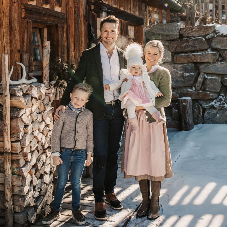 Familie Unterkofler vom Almdorf Sankt Johann