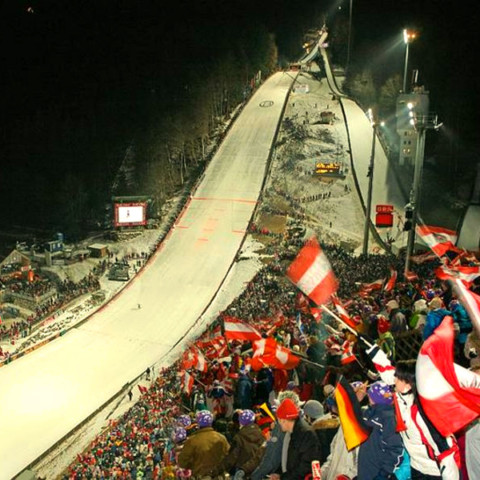 Skisprungschanze der 4-Schanzen-Tournee